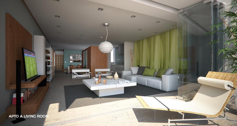 7Mares apartamento A living room en cap cana