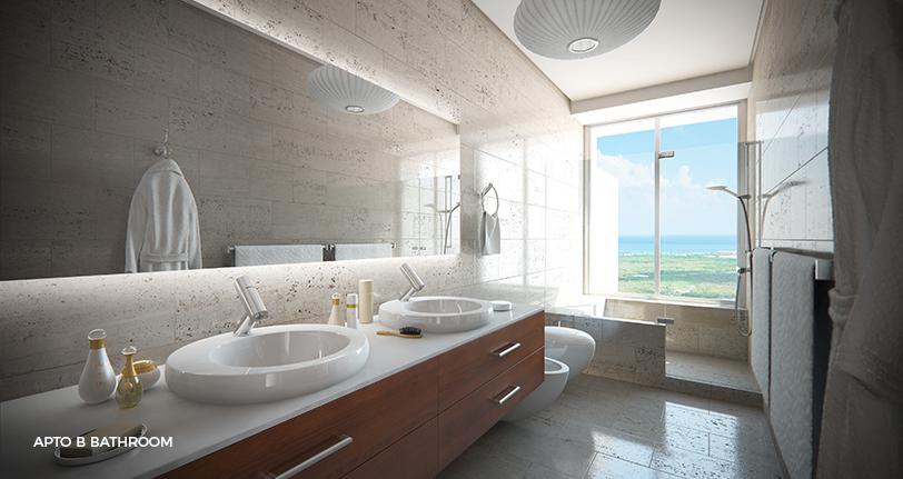 7Mares apartamento B bathroom with views en cap cana