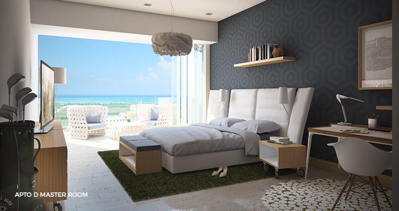 7Mares apartamento D master room en cap cana