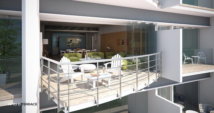 7Mares apartamento D terrace en cap cana