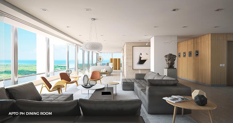 7Mares apartamento penthouse dining room with views en cap cana