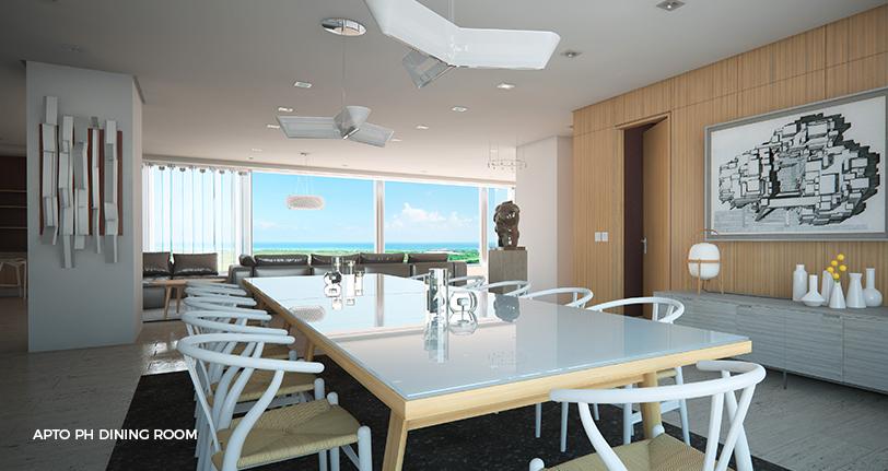7Mares apartamento penthouse dining room en cap cana