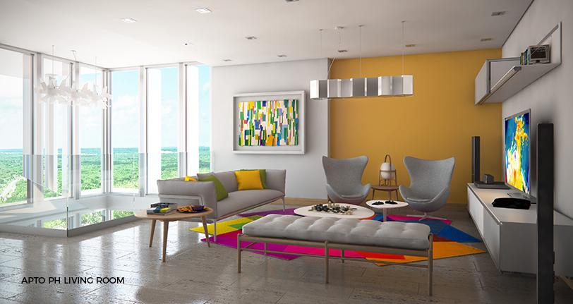 7Mares apartamento penthouse living room en cap cana