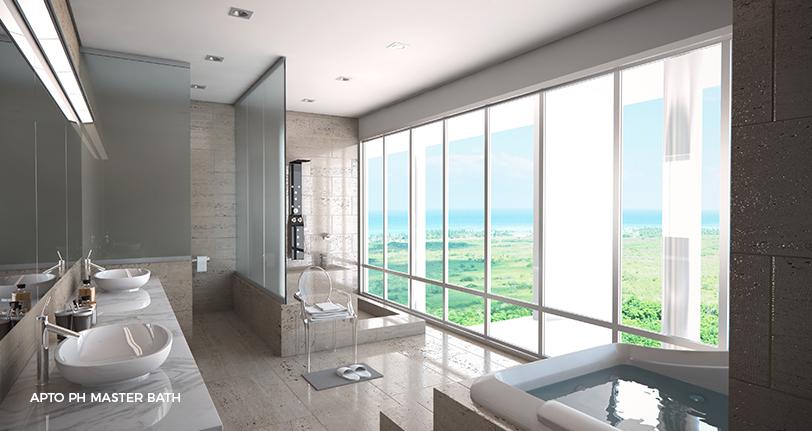7Mares apartamento penthouse master bathroom en cap cana