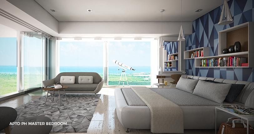7Mares apartamentos penthouse master bedroom