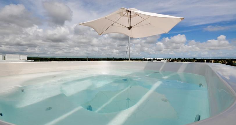 jacuzzi terraza rooftop ocean21 villas marina cap cana
