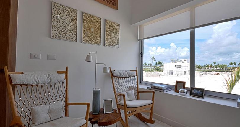 sala de estar ocean21 villas marina cap cana
