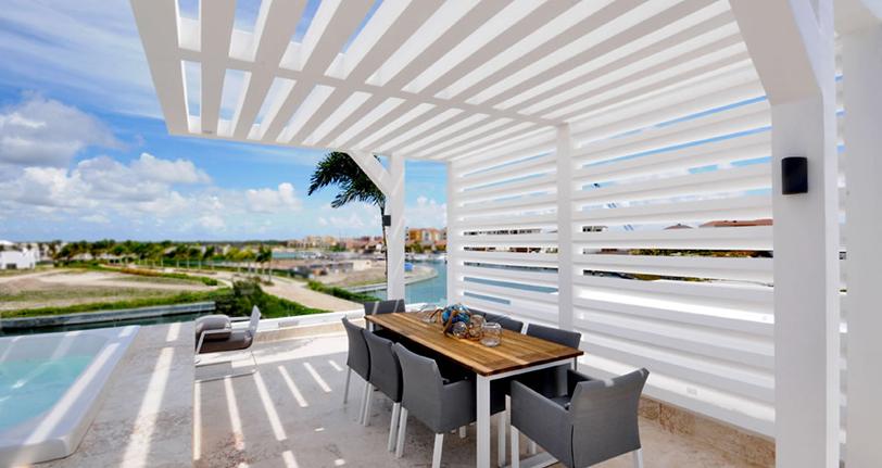 terraza rooftop ocean21 villas marina cap cana