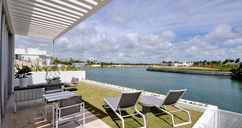 terraza jardin ocean21 villas marina cap cana