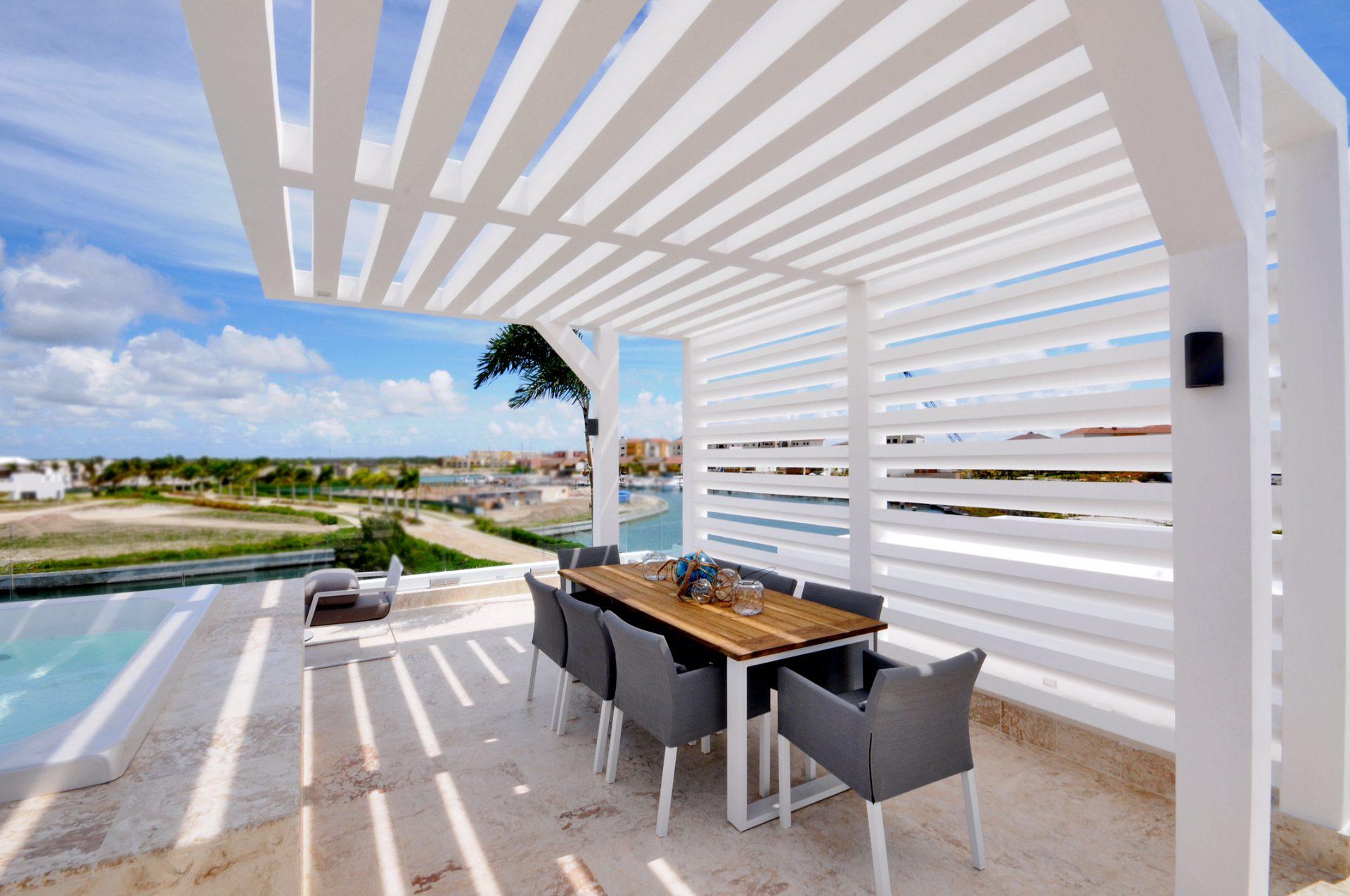 jacuzzi terraza villa for sale ocean 21 at marina cap cana